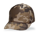 Cameo Sports Custom Constructed 5 Panel Brown Camo Poly Foam, Embroidery Imprint