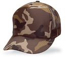 Cameo Sports Custom Constructed 5 Panel Brown Camo Poly/Mesh, Embroidery Imprint