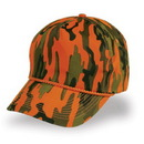 Cameo Sports CS-87T Orange Camo Cap, Plastic Snap Back