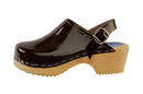 Cape Clogs 1321003 Adult Patent Leather Colors, Brown Patent