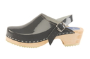 Cape Clogs 1321023 Adult Patent Leather Colors, Grey Patent Leather