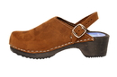 Cape Clogs 1324003 Solid Plain, Brown Nubuck