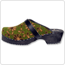 Cape Clogs 2001727 Wooly / Tartan, Olive