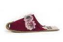Cape Clogs 2106 DIVA Slippers, Fancy Roses Burgundy
