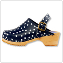 Cape Clogs 900222 Children/Toddler, Navy Polka