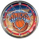 New York Knicks Clock Round Wall Style Chrome Special Order
