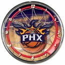 Phoenix Suns Clock Round Wall Style Chrome Special Order