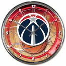 Washington Wizards Clock Round Wall Style Chrome Special Order
