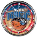 Orlando Magic Round Chrome Wall Clock