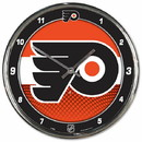Philadelphia Flyers Round Chrome Wall Clock