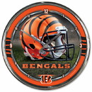 Cincinnati Bengals Round Chrome Wall Clock