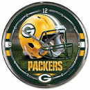 Green Bay Packers Round Chrome Wall Clock