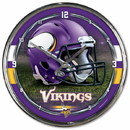 Minnesota Vikings Round Chrome Wall Clock