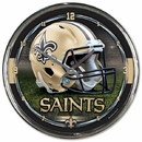 New Orleans Saints Round Chrome Wall Clock
