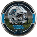 Carolina Panthers Round Chrome Wall Clock