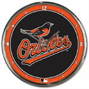 Baltimore Orioles Round Chrome Wall Clock