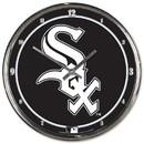 Chicago White Sox Round Chrome Wall Clock