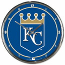 Kansas City Royals Round Chrome Wall Clock