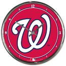 Washington Nationals Clock Round Wall Style Chrome