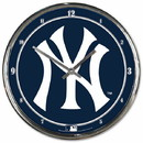 New York Yankees Round Chrome Wall Clock