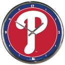 Philadelphia Phillies Round Chrome Wall Clock