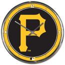 Pittsburgh Pirates Round Chrome Wall Clock
