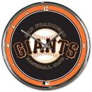 San Francisco Giants Round Chrome Wall Clock