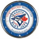 Toronto Blue Jays Round Chrome Wall Clock
