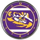 LSU Tigers Round Chrome Wall Clock