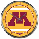 Minnesota Golden Gophers Clock Round Wall Style Chrome Special Order