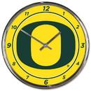 Oregon Ducks Round Chrome Wall Clock