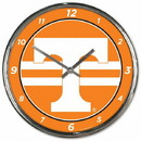 Tennessee Volunteers Round Chrome Wall Clock