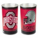 Ohio State Buckeyes Waste Basket - 15 inch - Helmet Style