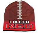 I Bleed Beanie - Sublimated Football - Red