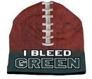 I Bleed Beanie - Sublimated Football - Forest Green