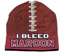 I Bleed Beanie - Sublimated Football - Maroon