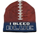 I Bleed Beanie - Sublimated Football - Navy Blue