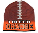 I Bleed Beanie - Sublimated Football - Orange