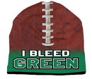 I Bleed Beanie - Sublimated Football - Kelly Green