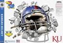 Kansas Jayhawks Decal Wallcrasher Smash Helmet 16 in