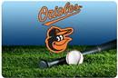 Baltimore Orioles Pet Bowl Mat Team Color Baseball Size Large