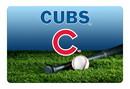 Chicago Cubs Pet Bowl Mat Team Color Baseball Size Large