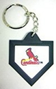 St. Louis Cardinals Keychain - Home Plate