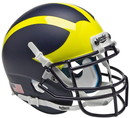 Michigan Wolverines Schutt Mini Helmet - Matte Finish