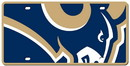 Los Angeles Rams License Plate - Acrylic Mega Style