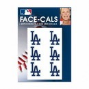 Los Angeles Dodgers Tattoo Face Cals
