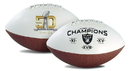 Oakland Raiders Football Full Size On The Fifty 3 Time Champ