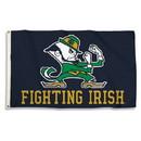 Notre Dame Fighting Irish Flag 3x5 Leprechaun Design BSI