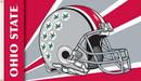 Ohio State Buckeyes Flag 3x5 Helmet