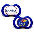 Kansas Jayhawks Pacifier 2 Pack
